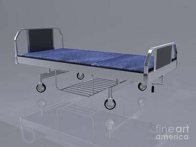Hospital Bed Poster by Stocktrek Images
