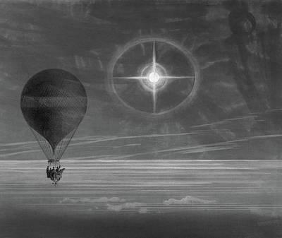Hot Air Balloon, 1875 Poster