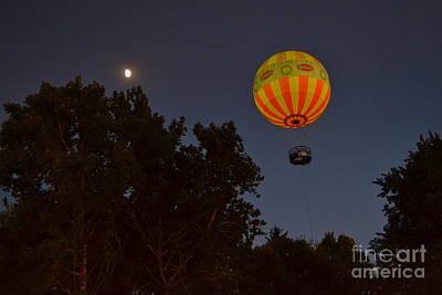 Hot Air Balloon At Night  Poster