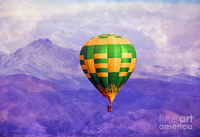 Hot Air Balloon Poster by Juli Scalzi
