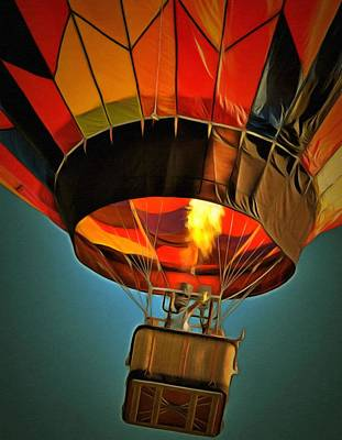 Hot Air Balloon  Poster by L Wright