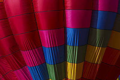 Hot Air Balloon Pattern Poster by Garry Gay