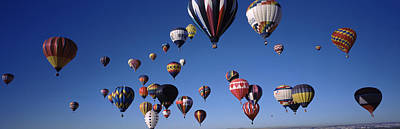 Hot Air Balloons Floating In Sky Poster