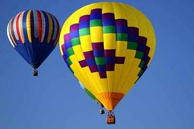 Hot Air Balloons Poster by Geraldine Scull