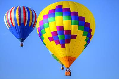 Hot Air Heium Balloons Poster by Geraldine Scull