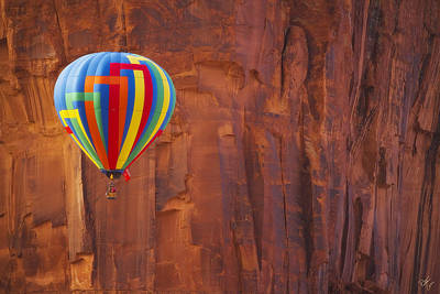Hot Air Sandstone  Poster by Peter Coskun