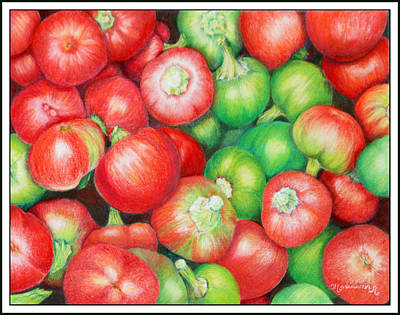 Hot Cherry Peppers Poster by Mariarosa Rockefeller