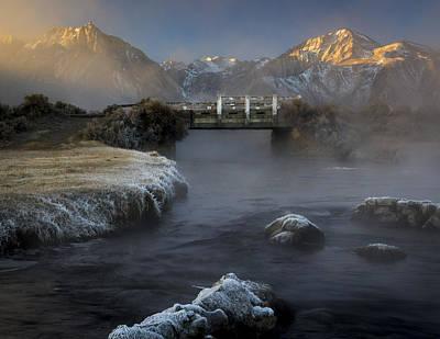 Hot Creek In Winter Poster