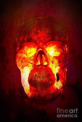 Hot Headed Skull Poster