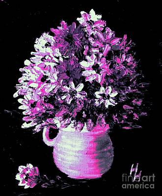 Hot Pink Flowers Poster by Hazel Holland