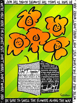 Hot Poppies Poster by Sid Wellman