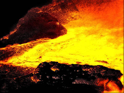Poster featuring the photograph Hot Rock And Lava by Pennie  McCracken