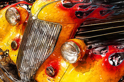 Hot Rod Flames Poster by Guy Dicarlo