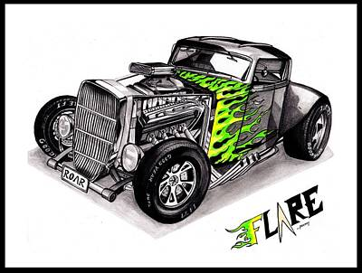 Hot Rod Flare Poster