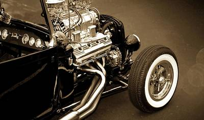Vintage Cars Poster featuring the photograph Hot Rod Power  by Aaron Berg