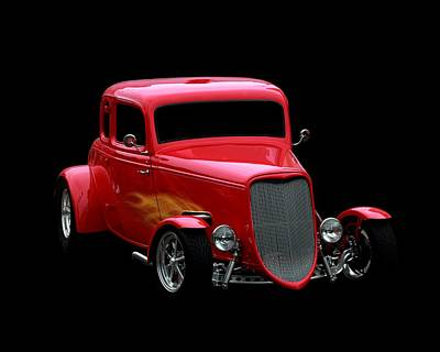 Hot Rod Poster featuring the photograph Hot Rod Red by Aaron Berg