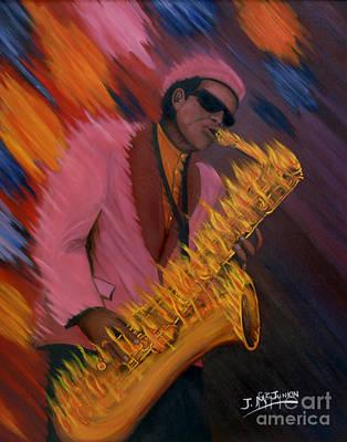 Hot Sax Poster by Jeff McJunkin