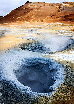 Poster featuring the photograph Hot Springs At Namaskard In Iceland by Peta Thames