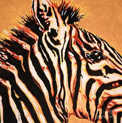 Hot Zebra Poster