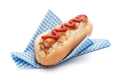 Hotdog In Napkin Poster by Amanda Elwell