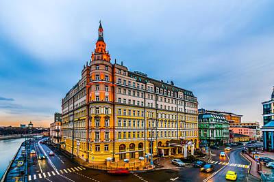 Hotel Baltschug Kempinski Of Moscow Poster by Alexander Senin