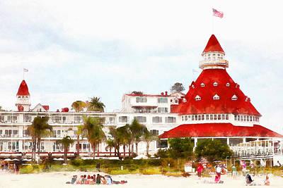 Hotel Del Coronado In Coronado California 5d24256wcstyle Poster