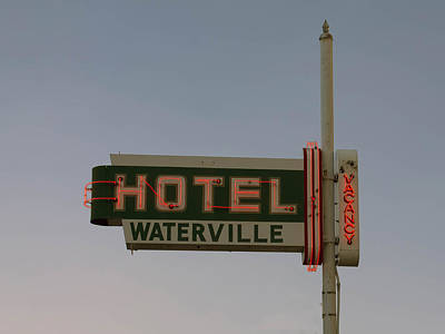 Hotel Waterville Neon Sign Poster