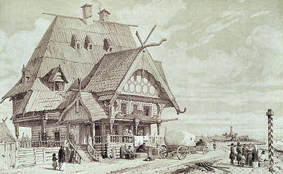 Hotels And Guest Houses, Illustration From Voyage Pittoresque En Russie, 1839 Engraving Poster by Andre Durand