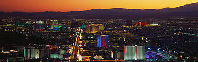 Hotels Las Vegas Nv Poster by Panoramic Images
