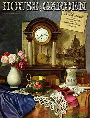 House & Garden Cover Illustration Of A Still Life Poster by Robert Harrer