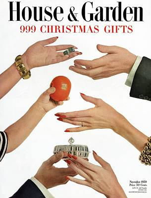 House And Garden 999 Christmas Gifts Cover Poster by Herbert Matter