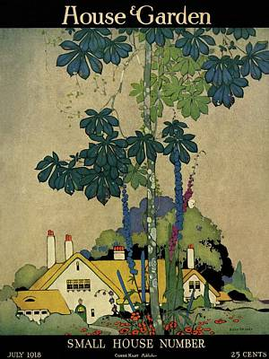 House And Garden Cover Poster by H. George Brandt