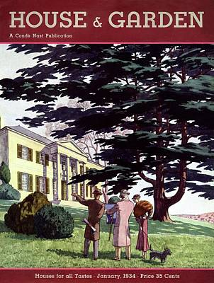 House And Garden Houses For All Tastes Cover Poster by Pierre Brissaud
