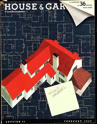 House And Garden Houses With Plans Cover Poster by Robert Harrer