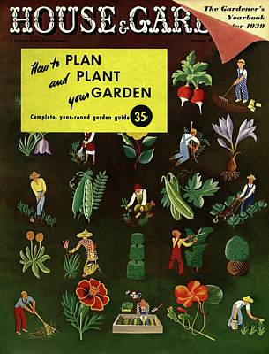House And Garden How To Plan And Plant Poster by Ilonka Karasz