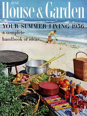 House And Garden Ideas For Summer Issue Cover Poster by Tom Leonard