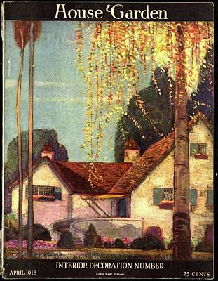 House And Garden Interior Decoration Number Cover Poster by Porter Woodruff