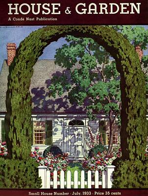 House And Garden Small House Number Poster by Pierre Brissaud