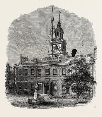 House At Philadelphia In Which The First Congresses Poster by American School