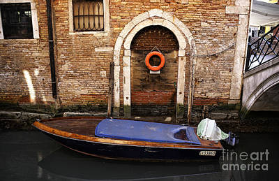House Boat In Venice Poster