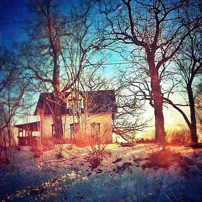 #house #home #old #farm #abandoned Poster