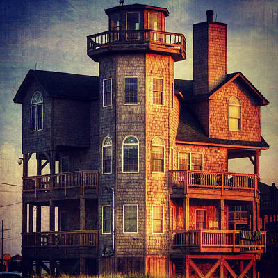 House In Rodanthe At Sunset Poster by Patricia Januszkiewicz