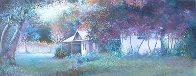 House In The Woods Poster by Jan Matson