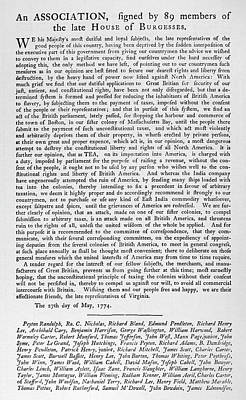House Of Burgesses, 1774 Poster by Granger