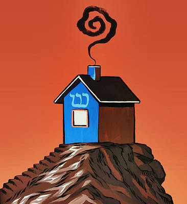 House On A Hill Poster by Steven  Michael