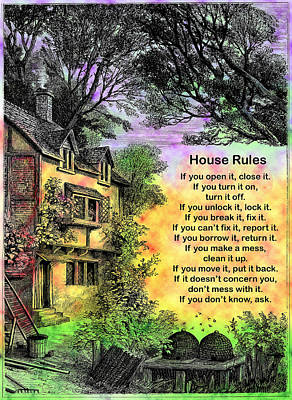 House Rules Poster by Mike Flynn