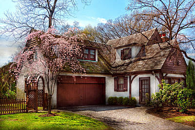 House - Westfield Nj - Who Doesn't Love Spring  Poster by Mike Savad