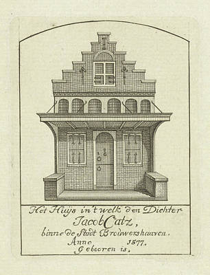 House With Gable, Jan Caspar Philips Poster by Jan Caspar Philips