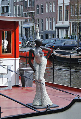 Poster featuring the photograph Houseboat Chanteuse by Allen Beatty