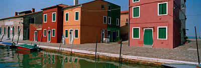 Houses Along A Canal, Burano, Venice Poster